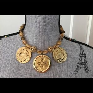 Vintage Kenneth Jay Lane coin necklace